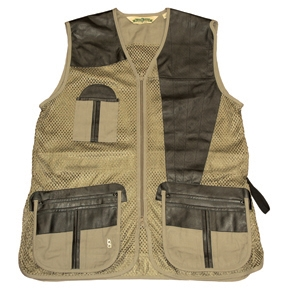 Bob Allen All Mesh & Leather Shooting Vest