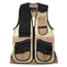 Wild Hare Range Vest Leather and Mesh  -- Khaki and Black - WH-445L-TB-RH-L