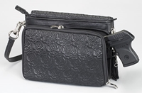 Gun Toten Mamas Embroidered Lambskin Concealed Carry Shoulder Bag