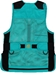 MizMac Womens Perfect Fit Mesh Vest - Genuine Leather Pad - Turquoise - MIZ-820L-TQ-RH-M